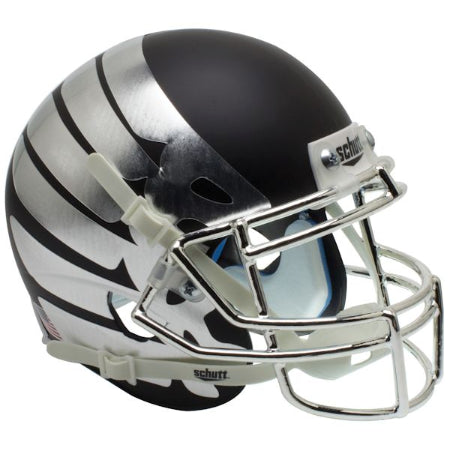 Oregon Ducks Matte Black Wing Logo Schutt XP Mini Helmet - Alternate 10