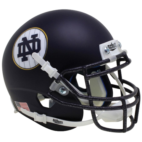Notre Dame Fighting Irish Pinstripe Schutt XP Mini Helmet - Alternate 11