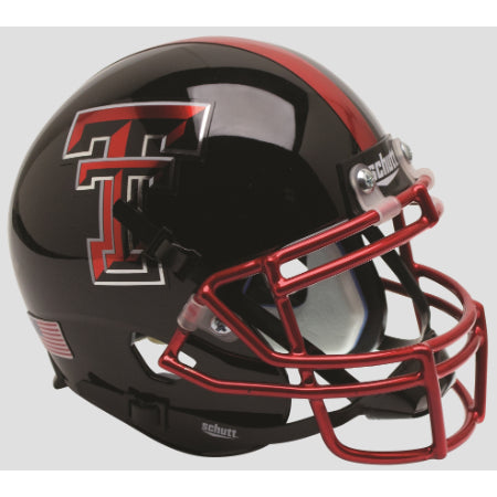 Texas Tech Red Raiders Chrome Facemask Schutt XP Mini Helmet - Alternate 12