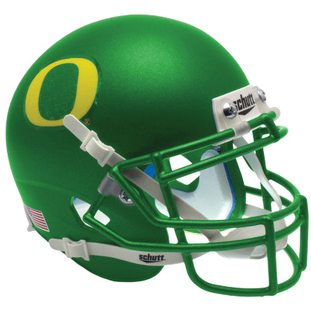 Oregon Ducks Apple Green Schutt XP Mini Helmet - Alternate 12