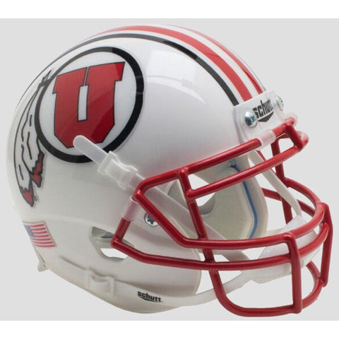 Utah Utes 2016 White Schutt XP Mini Helmet - Alternate 13