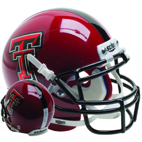 Texas Tech Red Raiders Red Schutt XP Mini Helmet - Alternate 14