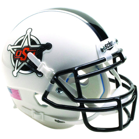 Oklahoma State Cowboys White Badge Schutt XP Mini Helmet - Alternate 14