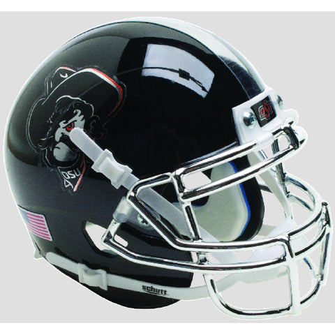 Oklahoma State Cowboys Black Icy Pistol Pete Schutt XP Mini Helmet - Alternate 16