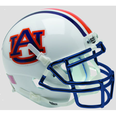Auburn Tigers Chrome Mask Schutt XP Mini Helmet - Alternate 1