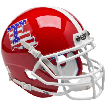 Louisiana Tech Bulldogs Stars & Stripes Schutt XP Mini Helmet - Alternate 1