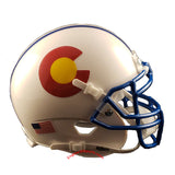 Colorado State Rams State Flag Schutt XP Mini Helmet - Alternate 1