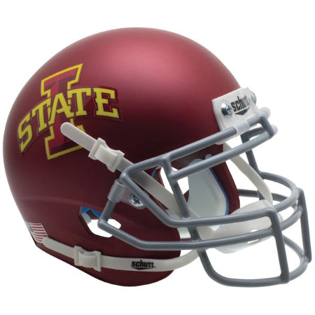 Iowa State Cyclones Matte Maroon Schutt XP Mini Helmet - Alternate 1