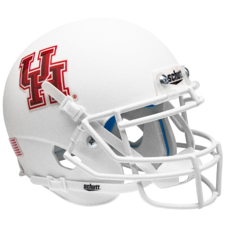 Houston Cougars Matte White Schutt XP Mini Helmet - Alternate 1
