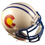 Colorado State Rams State Flag Schutt XP Mini Helmet - Alternate 1 Top