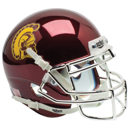 USC Trojans Chrome Schutt XP Mini Helmet - Alternate 1