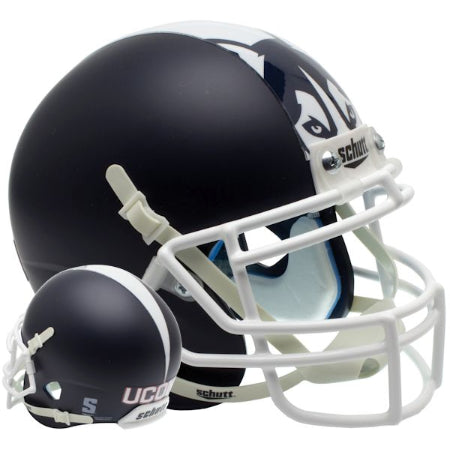 UConn Huskies Matte Blue Schutt XP Mini Helmet - Alternate 1