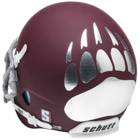 Montana Grizzlies Matte Maroon Schutt XP Mini Helmet - Alternate 1