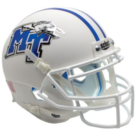 Middle Tennessee State Blue Raiders White Schutt XP Mini Helmet - Alternate 1