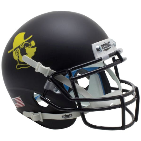Appalachian State Mountaineers Yosef Black Schutt XP Mini Helmet - Alternate 1
