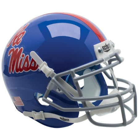 Mississippi Rebels Powder Blue Schutt XP Mini Helmet - Alternate 1