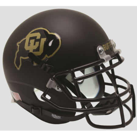 Colorado Buffaloes Matte Black Schutt XP Mini Helmet - Alternate 1