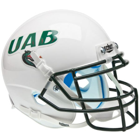 Alabama Birmingham UAB Blazers White Schutt XP Mini Helmet - Alternate 1