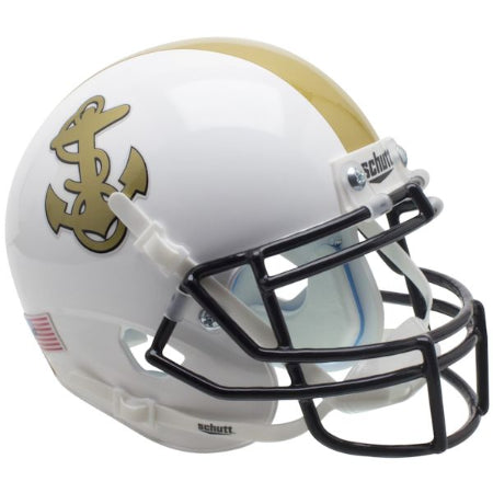 Navy Midshipmen White Schutt XP Mini Helmet - Alternate 1