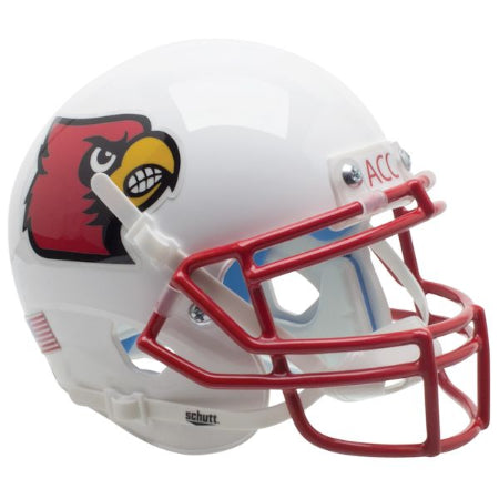 Louisville Cardinals Red Mask Schutt XP Mini Helmet - Alternate 1