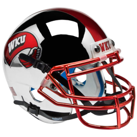 Western Kentucky Hilltoppers Chrome Schutt XP Mini Helmet - Alternate 1
