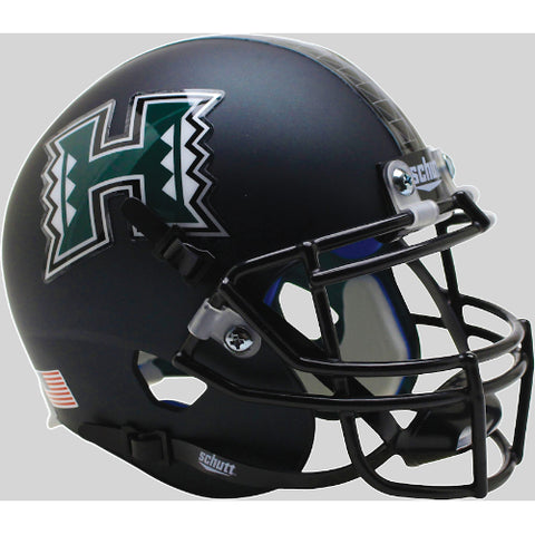 Hawaii Warriors Matte Dark Green Schutt XP Mini Helmet - Alternate 1
