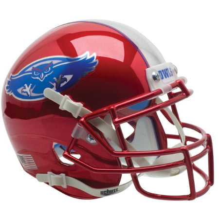 Florida Atlantic Owls Chrome Schutt XP Mini Helmet - Alternate 1