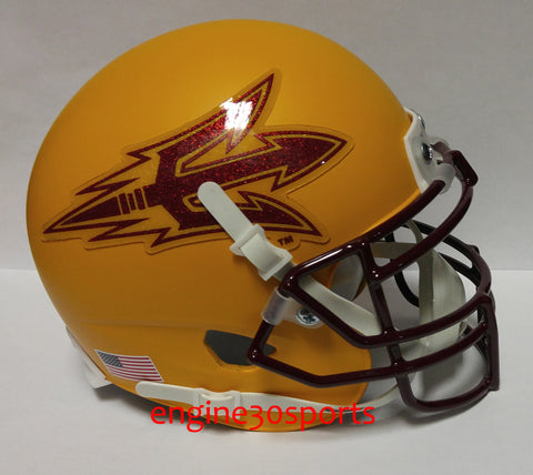 Arizona State Sun Devils Matte Gold Schutt XP Mini Helmet - Alternate 1