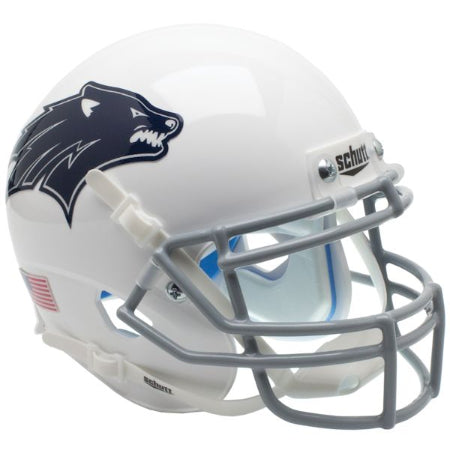 Nevada Wolfpack White with Blue Decal Schutt XP Mini Helmet - Alternate 2