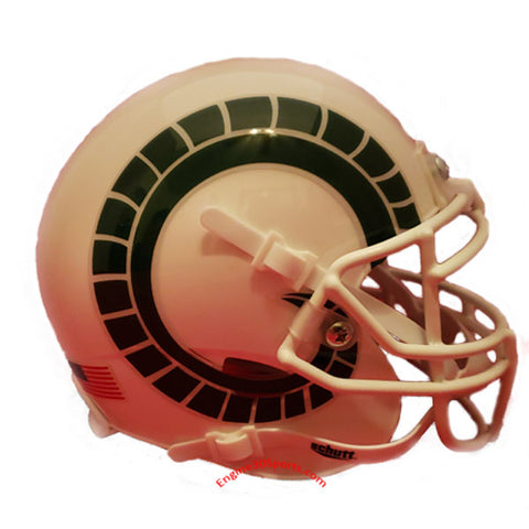 Colorado State Rams White Schutt XP Mini Helmet - Alternate 2
