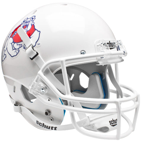 Fresno State Bulldogs White Schutt XP Mini Helmet - Alternate 2