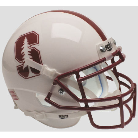 Stanford Cardinal 2015 White Schutt XP Mini Helmet - Alternate 2