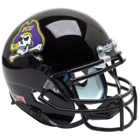 East Carolina Pirates Black Schutt XP Mini Helmet - Alternate 2