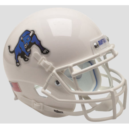 Buffalo Bulls White with Bull Logo Schutt XP Mini Helmet - Alternate 2