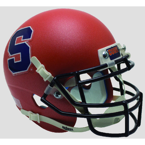 Syracuse Orange Satin Orange S Outline Schutt XP Mini Helmet - Alternate 2