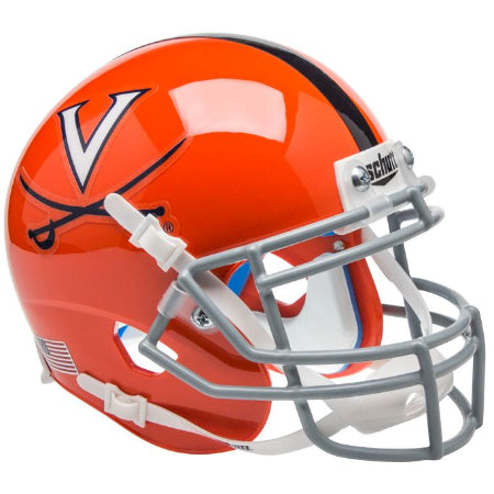 Virginia Cavaliers Orange with Stripe Schutt XP Mini Helmet - Alternate 2