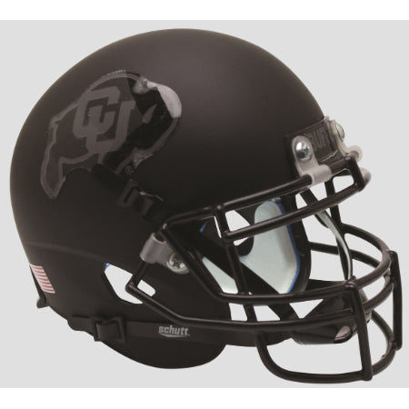 Colorado Buffaloes Matte Black Schutt XP Mini Helmet - Alternate 2
