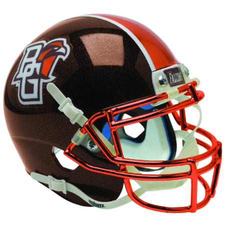 Bowling Green Falcons Chrome Mask Schutt XP Mini Helmet - Alternate 2