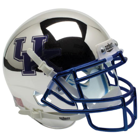 Kentucky Wildcats Chrome Silver Schutt XP Mini Helmet - Alternate 2