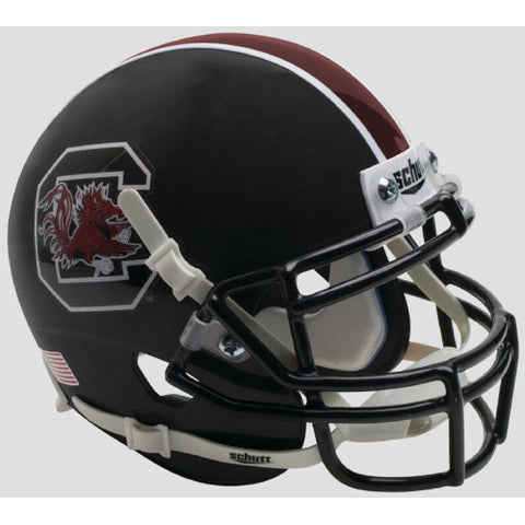 South Carolina Gamecocks Matte Black Schutt XP Mini Helmet - Alternate 2