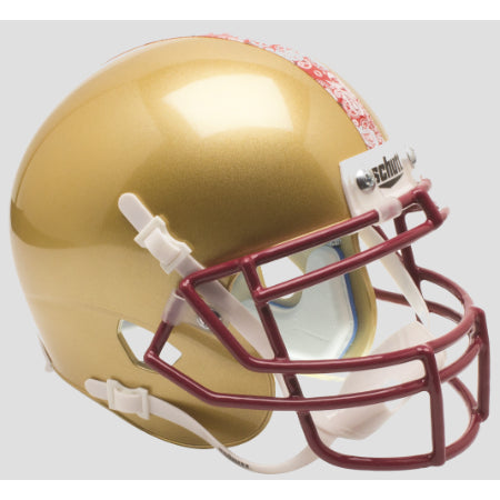 Boston College Eagles Red Bandana Game Schutt XP Mini Helmet - Alternate 2