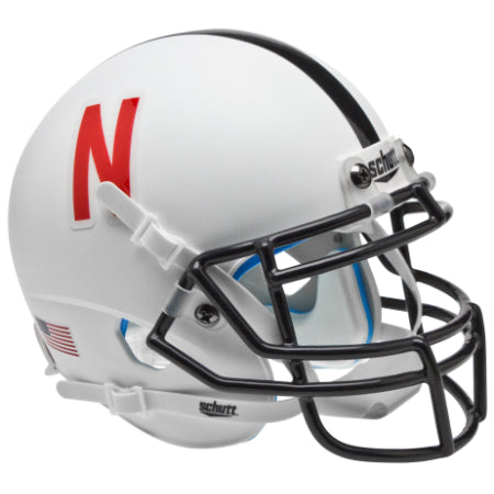 Nebraska Cornhuskers Black Mask Schutt XP Mini Helmet - Alternate 2