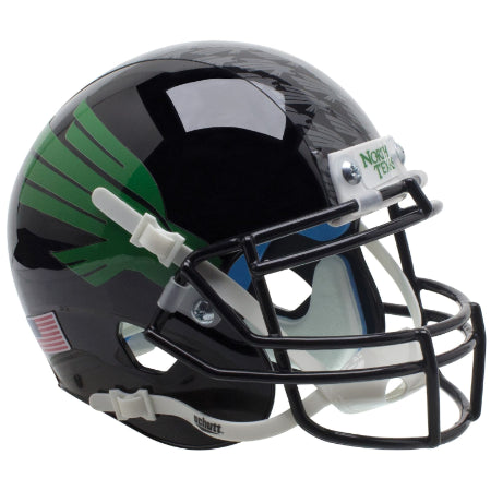 North Texas Mean Green Black Schutt XP Mini Helmet - Alternate 2