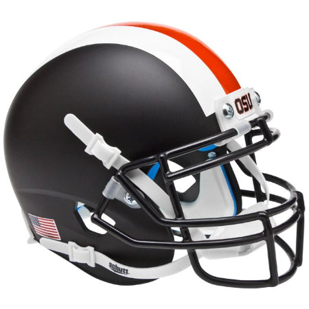 Oregon State Beavers Matte Black with Stripes Schutt XP Mini Helmet - Alternate 2