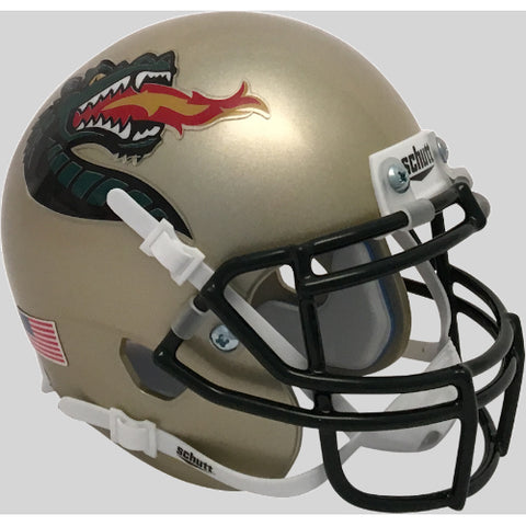 Alabama Birmingham UAB Blazers Gold with Large Logo Schutt XP Mini Helmet - Alternate 2