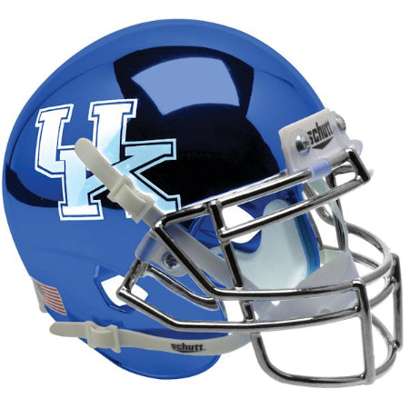 Kentucky Wildcats Chrome Blue Schutt XP Mini Helmet - Alternate 3