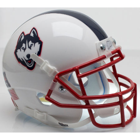 UConn Huskies White with Husky Logo Schutt XP Mini Helmet