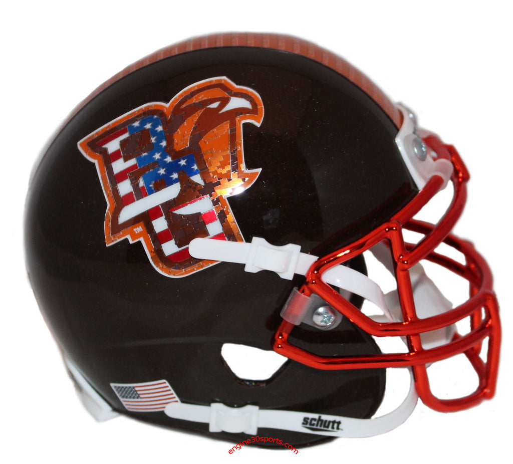 Bowling Green Falcons Military Appreciation Schutt XP Mini Helmet - Alternate 3