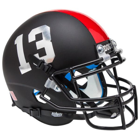 Fresno State Bulldogs Matte Black Schutt XP Mini Helmet - Alternate 3