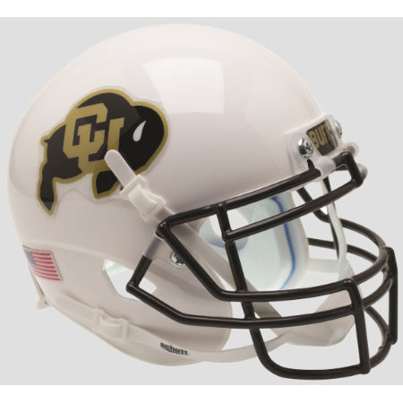 Colorado Buffaloes White Schutt XP Mini Helmet - Alternate 3